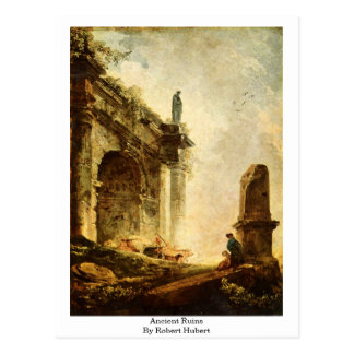 Cartão Postal Ruínas antigas por Robert Hubert