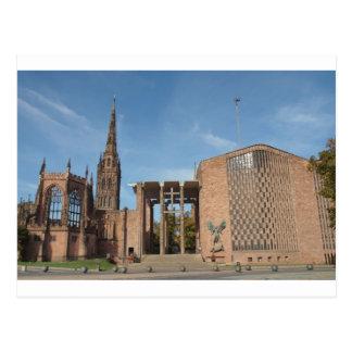 Cartão Postal Ruínas da catedral bombardeada de St Michael,