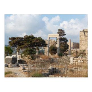 Cartão Postal Ruínas de Byblos