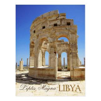 Cartão Postal Ruínas do mercado, Leptis Magna, Líbia