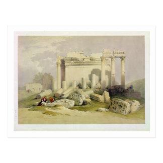 Cartão Postal Ruínas do Portico oriental do templo do Baal
