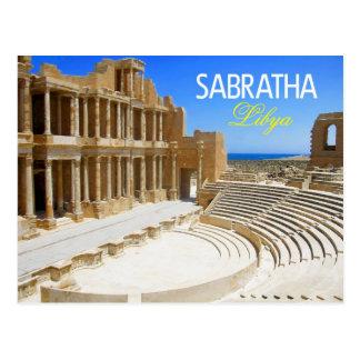 Cartão Postal Ruínas do teatro de Sabratha, Líbia