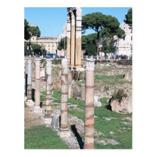 Cartão Postal Ruínas do templo do rodízio e do Pollux, Italia