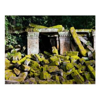 Cartão Postal Ruínas do templo em Cambodia