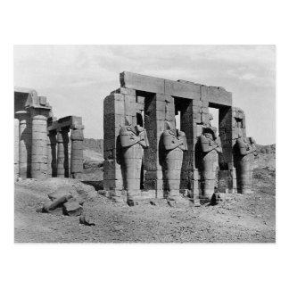 Cartão Postal Ruínas do vintage de Ramesseum Egipto