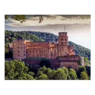 Cartão Postal Ruínas famosas do castelo, Heidelberg, Alemanha