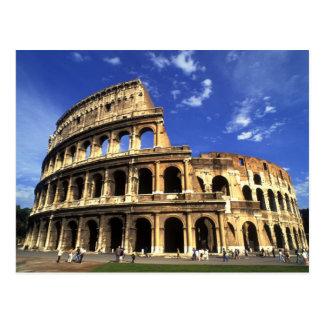 Cartão Postal Ruínas famosas do coliseu em Roma Italia
