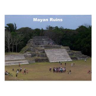 Cartão Postal Ruínas maias