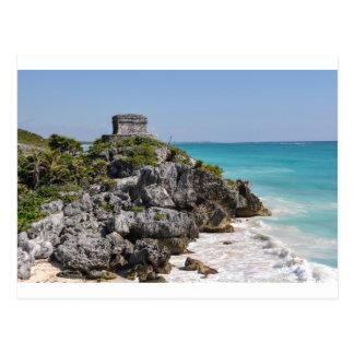 Cartão Postal Ruínas maias em Tulum México