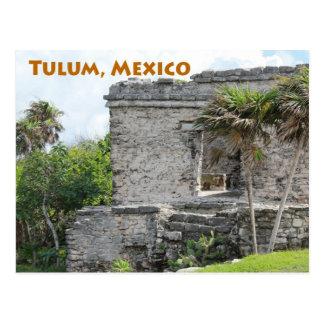 Cartão Postal Ruínas maias Quintana Roo México de Tulum