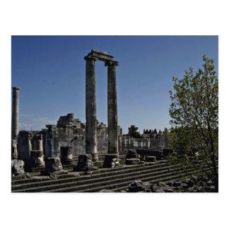 Cartão Postal Ruínas quebradas do estilo grego