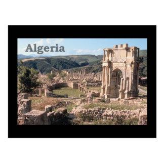 Cartão Postal Ruínas romanas de Argélia