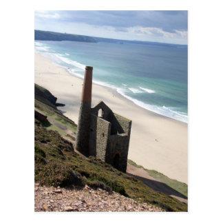 Cartão Postal Ruine Cornish da mineração no moinho wheal 01
