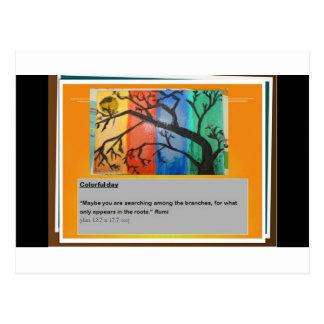 Cartão Postal Rumi e cores