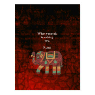 Cartão Postal Rumi inspirado o que você procura citações