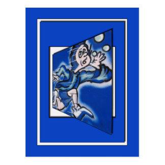 Cartão Postal runnin do menino azul (quadro do vert)