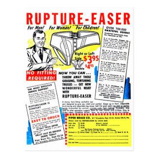 Cartão Postal Ruptura-Easer retro do anúncio da banda desenhada