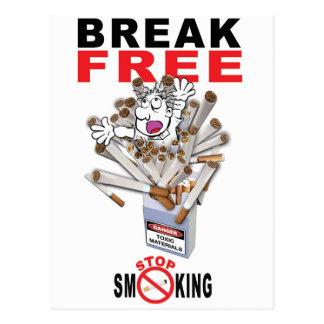 Cartão Postal RUPTURA LIVRE - pare de fumar