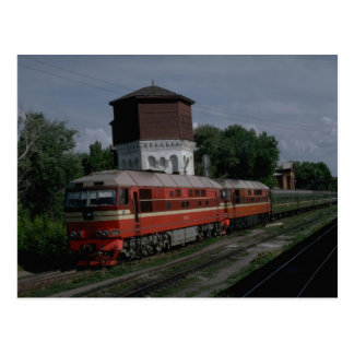 Cartão Postal Rússia, diesel do passageiro da série mais nova do