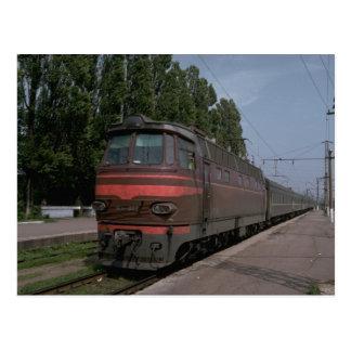 Cartão Postal Rússia, elétrico Czechoslovakian do relé