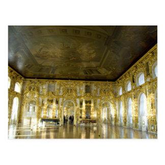 Cartão Postal Rússia, St Petersburg, o palácio de Catherine (aka