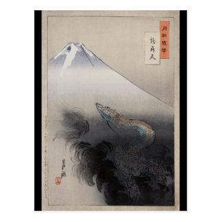 Cartão Postal Ryū shōten por Ogata Gekkō (1897)
