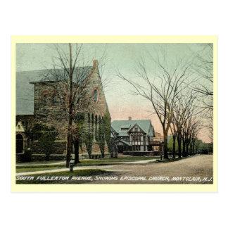 Cartão Postal S. Fullerton Avenida., Montclair, vintage de NJ