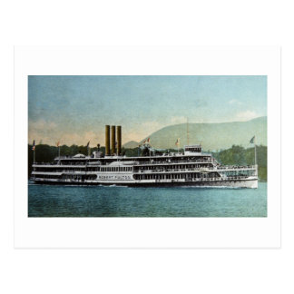 Cartão Postal S.S. Robert Fulton - linha do dia de Hduson Riv er