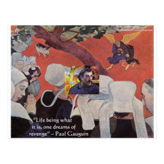 """Cartão Postal Sabedoria de Gauguin da """"presentes & camisetas das"""