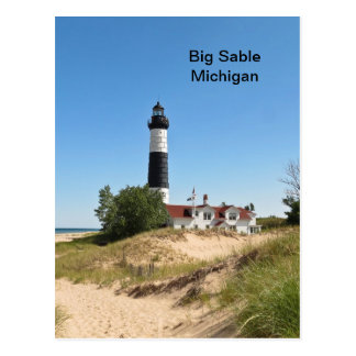 Cartão Postal Sable grande Lightouse