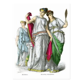 Cartão Postal Sacerdotisa do grego clássico e mulheres nobres