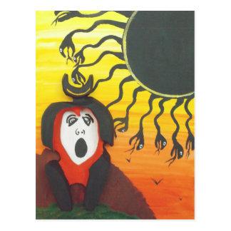 Cartão Postal Sacrifício ao deus de cobra solar