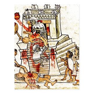 Cartão Postal Sacrifício humano ritual asteca da descrição