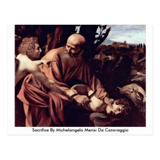 Cartão Postal Sacrifício por Michelangelo Merisi a Dinamarca