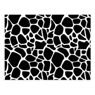 Cartão Postal Safari preto e branco