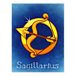 Cartão Postal Sagitário do sinal da astrologia