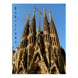 Cartão Postal Sagrada Familia
