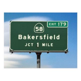 Cartão Postal Saída de Bakersfield