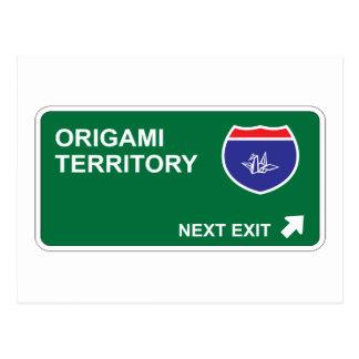 Cartão Postal Saída seguinte de Origami