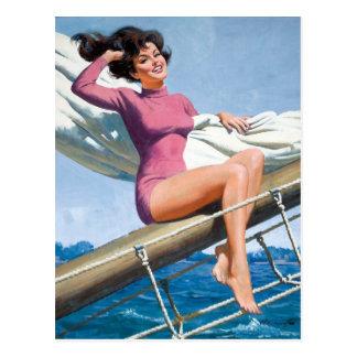 Cartão Postal Sailing PinUp