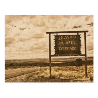 Cartão Postal saindo de Colorado colorido