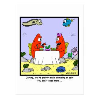 Cartão Postal Sal: Desenhos animados dos peixes