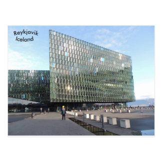 Cartão Postal Sala de concertos de Harpa, Reykjavik, Islândia