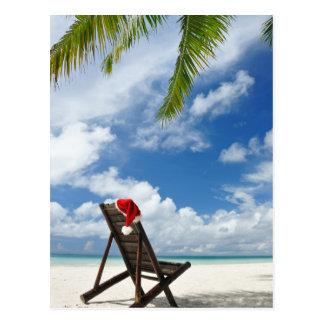 Cartão Postal Sala de estar do chapéu e do chaise do papai noel