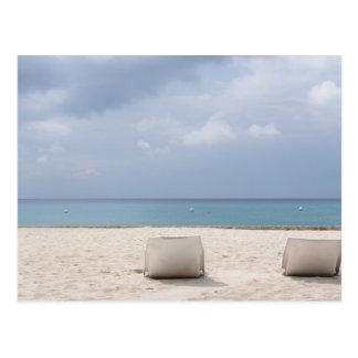 Cartão Postal Sala de estar pelo oceano em Cozumel