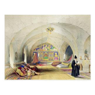 Cartão Postal Sala em um convento arménio, em Jerusalem (cor