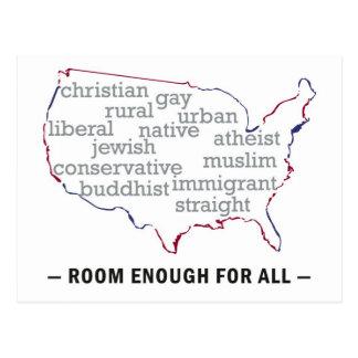 Cartão Postal Sala patriótica bastante para toda a América