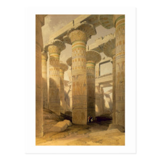 """Cartão Postal Salão das colunas, Karnak, de """"Egipto e de Nubia"""","""