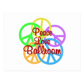Cartão Postal Salão de baile do amor da paz