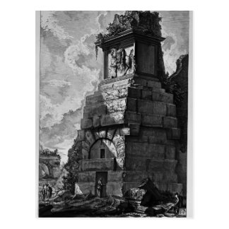 Cartão Postal Salas do enterro de Giovanni Piranesi- da família
